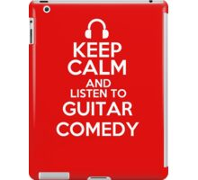Keep calm and listen to Guitar comedy iPad Case/Skin