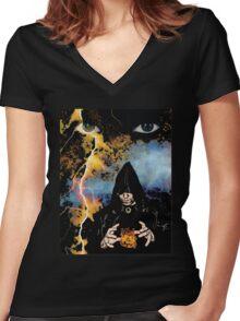 Dark Wizard Women's Fitted V-Neck T-Shirt