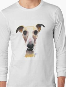 NOSEY DOG 'HOLLYWOLLY' BY SHIRLEY MACARTHUR Long Sleeve T-Shirt