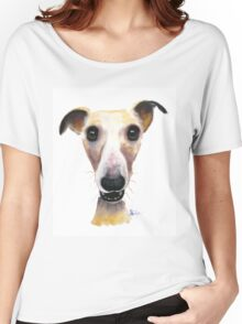 NOSEY DOG 'HOLLYWOLLY' BY SHIRLEY MACARTHUR Women's Relaxed Fit T-Shirt