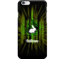 Follow the White Rabbit  iPhone Case/Skin