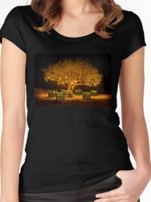 The golden tree of Naxos Women's Fitted Scoop T-Shirt