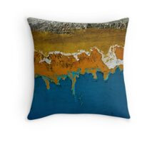 Coastline Abstract Throw Pillow