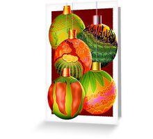 Christmas Ornaments Desert Theme Greeting Card