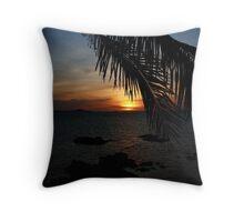 Sunset from the Big Buddah Café Throw Pillow