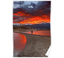 Fire in the sky - Lake Plastiras Poster