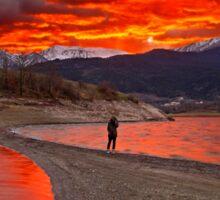 Fire in the sky - Lake Plastiras Sticker