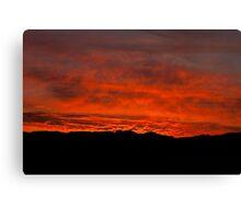Namib fired sky Canvas Print