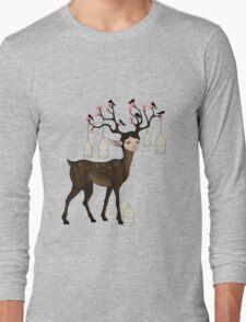 The Happy Springtime Deer! Long Sleeve T-Shirt