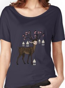 The Happy Springtime Deer! Women's Relaxed Fit T-Shirt
