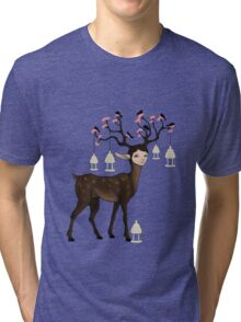 The Happy Springtime Deer! Tri-blend T-Shirt