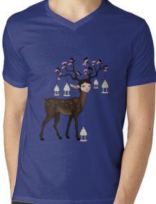 The Happy Springtime Deer! Mens V-Neck T-Shirt