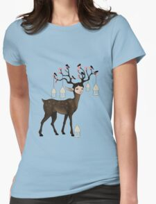 The Happy Springtime Deer! Womens Fitted T-Shirt