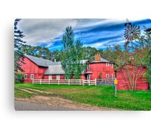 """What!...were you raised in a barn"" Canvas Print"