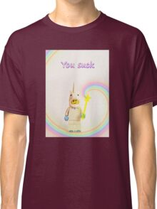 Unicorn says you suck Classic T-Shirt