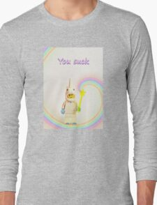 Unicorn says you suck Long Sleeve T-Shirt