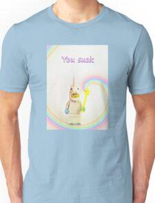Unicorn says you suck Unisex T-Shirt