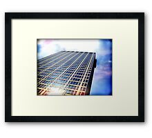 Cityscapes - I wanna live in a rainbow Framed Print