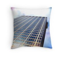 Cityscapes - I wanna live in a rainbow Throw Pillow