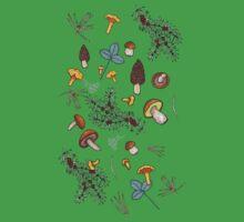 dark wild forest mushrooms Baby Tee