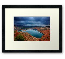 The secret lake of the abandoned mines Framed Print