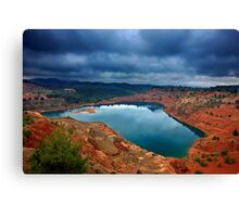 The secret lake of the abandoned mines Canvas Print