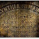Vintage Headstone 1891 by Debbie Robbins