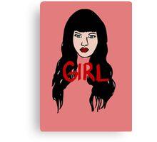 Girl Face Canvas Print