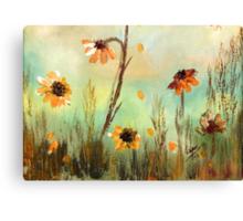 WILD FLOWERS- Acrylic Painting Canvas Print