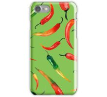 - Chilli pattern (green) - iPhone Case/Skin