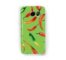- Chilli pattern (green) - Samsung Galaxy Case/Skin