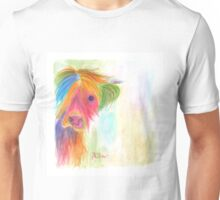 NOSEY COW 'COW LICK' BY SHIRLEY MACARTHUR Unisex T-Shirt