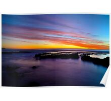 Sunset at Avalon Beach Poster