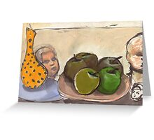 she'll be apples mate! Greeting Card