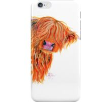 HIGHLAND COW 'PEEKABOO' BY SHIRLEY MACARTHUR iPhone Case/Skin