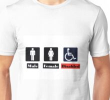 Male Female Disabled Unisex T-Shirt