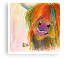 HIGHLAND COW 'JUICY FRUIT JOSIE' BY SHIRLEY MACARTHUR Canvas Print