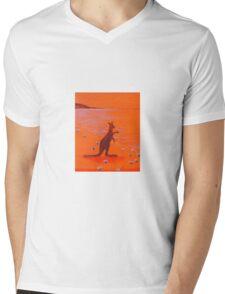 Australian Kangaroo Mens V-Neck T-Shirt