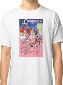 Copenhagen Vintage Travel Poster Restored Classic T-Shirt