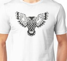 Flying Black Owl  Unisex T-Shirt