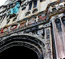 Entrance to Canterbury Cathedral....Kent UK by Deb Gibbons