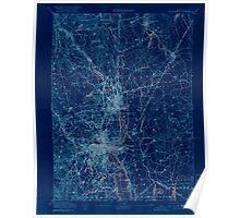 Massachusetts  USGS Historical Topo Map MA Providence 352973 1894 62500 Inverted Poster