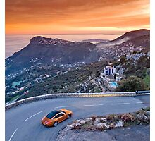 Porsche 911 Targa above Monaco Photographic Print