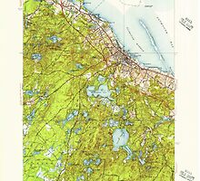 Massachusetts  USGS Historical Topo Map MA Plymouth 352085 1950 31680 by wetdryvac