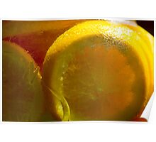 Orange slices in Sugar Water Poster