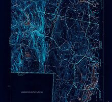 Massachusetts  USGS Historical Topo Map MA Southwick 352202 1942 31680 Inverted by wetdryvac
