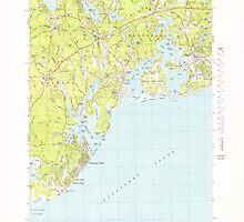 Massachusetts  USGS Historical Topo Map MA Cotuit 350094 1974 24000 by wetdryvac
