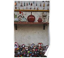 Turkish Folk Art: Pottery And Dolls Poster