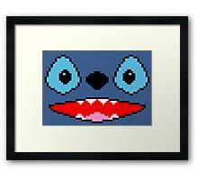 PIXEL - Stitch face Framed Print