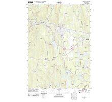 Massachusetts  USGS Historical Topo Map MA Orange 20120606 TM Photographic Print